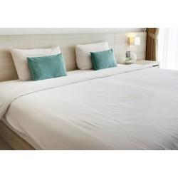 Lot de 100 taies sacs coton blanc 65x65cm + 20 cm