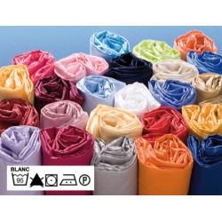 Lot de 5 draps housses 100% coton blanc 90x190 cm bonnet 24