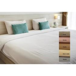 Lot de 15 draps plats coton couleur 240x310 cm