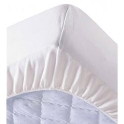 Lot de 6 protège matelas draps housses 140x190 cm 100% coton 200g