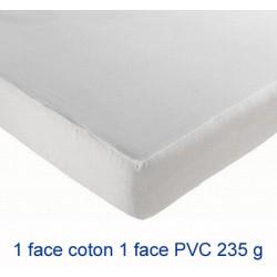 Lot de 8 protège-matelas drap housse imperméable coton et pvc 235g 200x200 cm