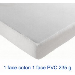 Lot de 6 protège-matelas drap housse imperméable coton et pvc 235g 140x200 cm