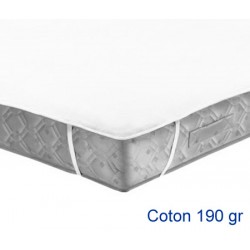 Lot de 15 protège-matelas forme plateau élastiqué aux 4 coins coton 190g 140x190 cm