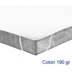 Lot de 20 protège-matelas forme plateau élastiqué aux 4 coins coton 190g 90x190 cm