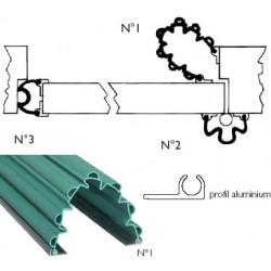 Anti-pince doigts garomin® L140 cm pour angle de porte côté ouvrant