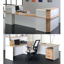 Bureau d accueil confort angle 90° 80x80 cm