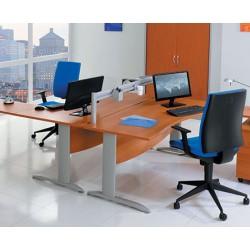 Bureau Office vague 140 cm à gauche