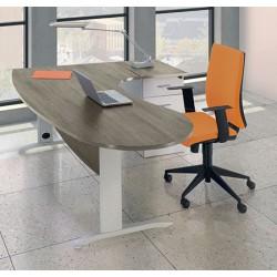 Bureau Office manager 200 cm retour à gauche