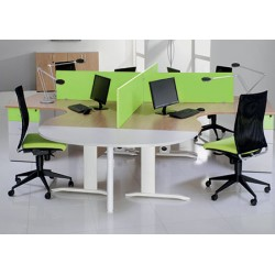 Bureau Office compact 180 cm retour à gauche