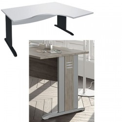 Bureau Altus compact 2 pieds avec habillage 1 voile de fond L180 cm gau