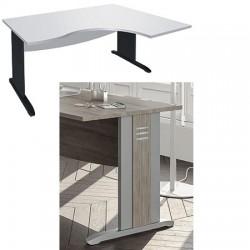 Bureau Altus compact 2 pieds avec habillage 1 voile de fond L160 cm gau