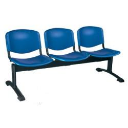Siège poutre Emmanuelle 3 places assise et dossier polypropylene
