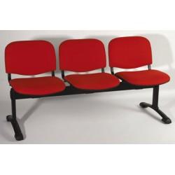 Siège poutre Emmanuelle 3 places assise et dossier tissu standard