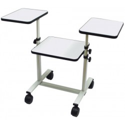 Table de projection mobile avec tablettes télescopiques L102 xH120 cm