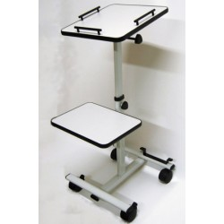 Table de projection mobile télescopique et inclinable L38xH110 cm