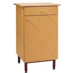 Buffet 1 porte 1 tiroirs L60xH102xP55 cm