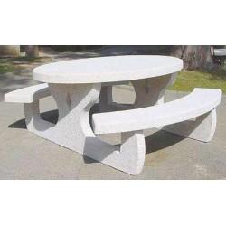 Table de pique nique monobloc ovale L180 cm
