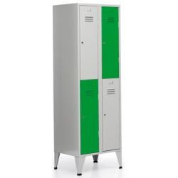 Vestiaire Eco 2 colonne 4 cases L60xP50xH190 cm
