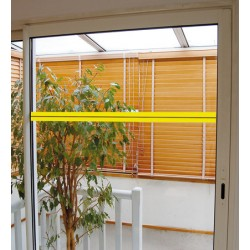 Ruban adhésif de repérage des surfaces vitrées 10x0,05 m coloris blanc et photoluminescent
