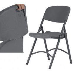 Lot de 4 chaises pliantes polyéthylène Confort Q+