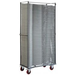 Chariot pour 60 chaises pliantes polyéthylène Wizz