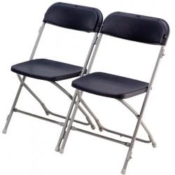 Lot de 12 chaises pliantes et empilables Joan M2 accrochables noire