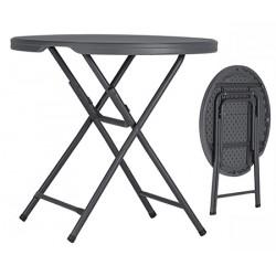 Table pliante polyéthylène Q+ ø 81,3xH74 cm