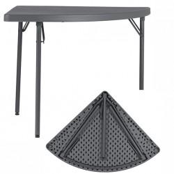 Table d'angle pliante et assemblable polyéthylène Q+ 91x91 cm
