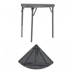 Table d'angle pliante et assemblable polyéthylène Q+ 74,8x74,8 cm