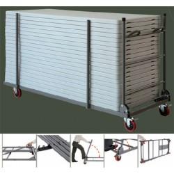 Chariot pliable et extensible pour tables polyéthylène Q+ 152/183/243 cm