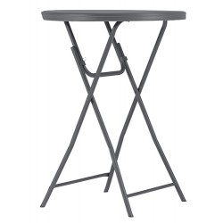 Table cocktail pliante polyéthylène Q+ ø 81,3xh 110 cm