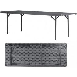 Table pliante assemblable polyéthylène Q+ 240 x91,4 cm