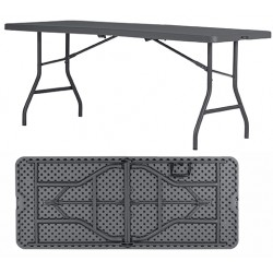 Table pliante et transportable polyéthylène Q+ 183x76,2 cm