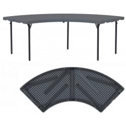 Table circulaire pliante et assemblable polyéthylène Q+ 166,3x166,3 cm