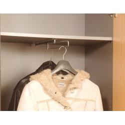 Kit de penderie Tringle porte-cintres coulissante pour armoire manager