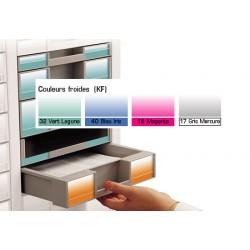 Lot de 100 étiquettes H3 cm couleurs froides