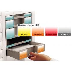 Lot de 100 étiquettes H3 cm couleurs chaudes
