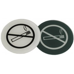 Lot de 10 plaques interdiction de fumer en altuglass teinté diam 70 mm