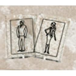 Plaque de porte silhouette en altuglass 80x50 mm