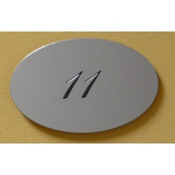 Plaque signalétique ovale aluminium H70xL110 mm