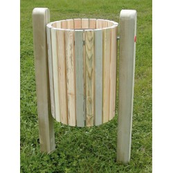 Corbeille basculante Limoges en bois 50L