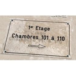 Plaque d étage en altuglass 200x300 mm
