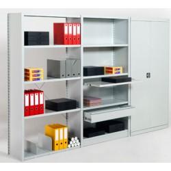 Rayonnage de bureau 5 niveaux suivant L125xP60xH200 cm