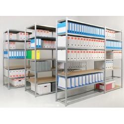 Lot de 7 isobois pour rayonnage archives 7 niveaux H200xL125xP70 cm