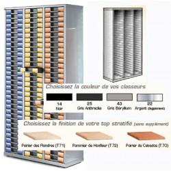 Armoire vide 3 colonnes H189xL93xP39,5 cm
