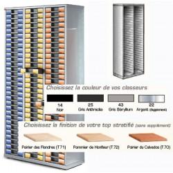 Armoire vide 2 colonnes H189xL63xP39,5 cm