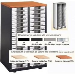 Armoirette vide 2 colonnes H135xL63xP39,5 cm