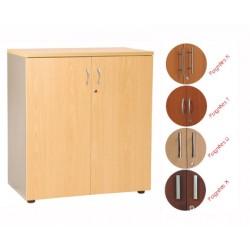 Armoire mi-haute manager 2 portes H102xL80 cm 2 tablettes métal ds