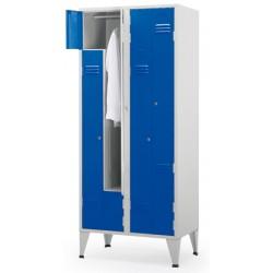 Vestiaire Eco porte en Z 1 colonne 2 cases L40xP50xH190 cm
