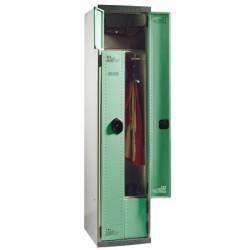 Vestiaire compact à monter porte en L serrure à clé L40xP50xH180 cm